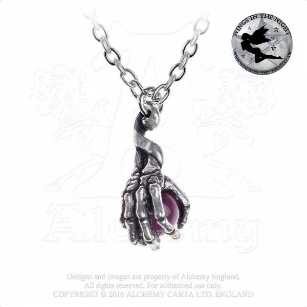 ALCHEMY GOTHIC Clutching Life Necklace